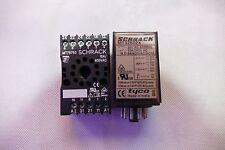 SCHRACK 4PDT MT301024 RELAY WITH SOCKET MT78750, 24V COIL , 10A 250V OR 5A 400V