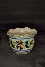 Übertopf Luisenburg Keramik Bavaria handgemalt Blumen h 10 cm/ 14 cm Dm / 500 gr