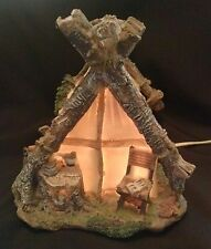 Pioneer style tent, table night light
