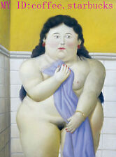 "Art Repro oil painting:""Fernando Botero Portrait at canvas"" 24x36 Inch #061"