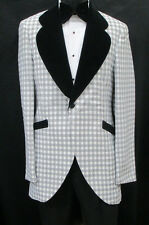 Vintage Grey Tuxedo Jacket Theater Retro 1970's Disco Halloween Costume 42L