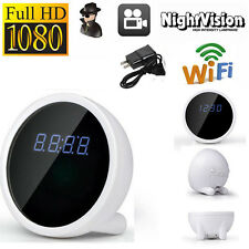 HD 1080P WiFi Spy Alarm Hidden Camera Clock Wireless Motion Security Camcorder