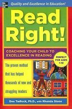 Read Right: Coaching Your Child to Excellence in Reading by Tadlock, Dee
