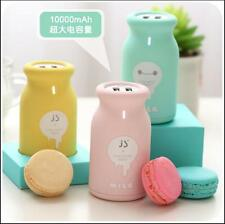 Fashion Cute 10000 mAh Portable Mobile Milk Bottle Power Bank Portable Charger