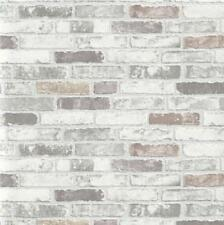 ERISMANN GREY BRICK WALL EFFECT EMBOSSED TEXTURED WALLPAPER