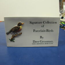 Dave Grossman Porcelain Signature Collection Porcelain Birds Sign Display Store