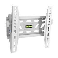 Delgado Montaje Ajustable Inclinación BLANCO TV Soporte de pared encaja 19 - 40 extra fuerte
