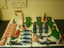 VINTAGE GERRY ANDERSON HUGE DIECAST LOT THUNDERBIRDS STINGRAY SCARLET MUST LOOK