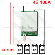 4S 12V BMS 100A LiFePo4 Lithium iron battery protection board w balance charging