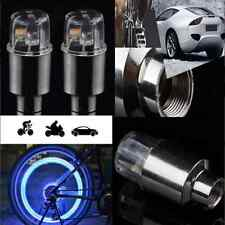 2x Bike Car Motorcycle Wheel Tire Tyre Valve Cap Spoke Neon LED Flash Light CH