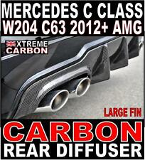 Mercedes C Class C63 2012 W204 Carbon Big Fin Rear Diffuser