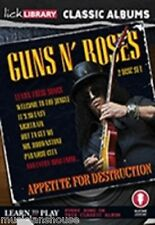 LICK LIBRARY Learn to Play GUNS N ROSES APPETITE FOR DESTRUCTION GUITAR DVD ROCK