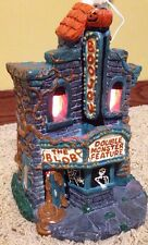 Rare Accents Unlimited Painted Ceramic Haunted Movie Theater Lighted Halloween