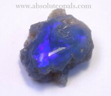 LIGHTNING RIDGE ELECTRIC BLUE GEM OPAL SOLID ROUGH  27 ct  (+vid)