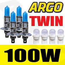 4x H1 Xenon Ice White 100 W bombillas Doble Twin Pack Set Faros Kit De Reemplazo
