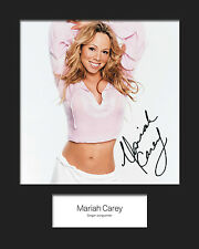 MARIAH CAREY #2 10x8 SIGNED Mounted Photo Print - FREE DELIVERY