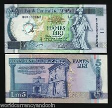 MALTA 5 LIRI P50 2000 *COMMEMORATIVE* CLOCK RUDDER PIGEON UNC EURO CURRENCY NOTE