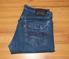 Levi's 569 Loose Straight Dark Blue Red Tab Jeans Flap Pockets 32x34 Meas 32x31