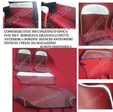 CINQUINO FIAT 500 F BORDEAUX GRANATA bordino e lunette ANTERIORI (2 pz) BIANCO