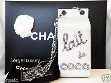 NIB CHANEL 2014 Milk Bottle Carton Lait de CoCo leather Clutch bag Grocery