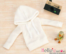 ☆╮Cool Cat╭☆193.【NP-B18】Blythe/Pullip Hoodie Top(Long Sleeves)# White