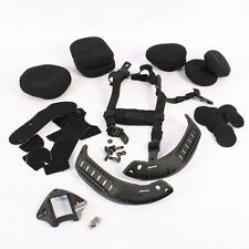Airsoft Mich 2002 Liner pads, Chinstrap and Side Rails and NVG Mount Set Black