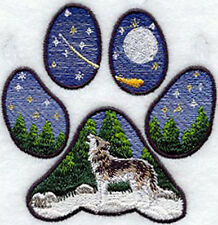 Wolf Track Embroidery Patch