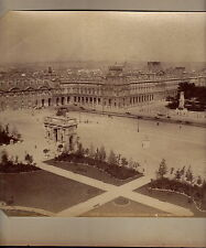 "PARIS-PLACE DU CARROUSEL LOUVRE-ALBUMEN PHOTO-8"" x 11""- CIRCA 1890"