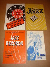 Jazz Records - Lot of 4 1950s/60s Catalogues