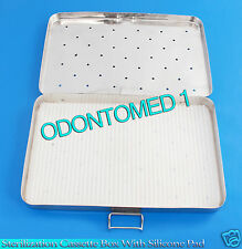 """STERILIZATION CASSETTE BOX 6"""" X 10"""" WITH SILICONE PAD FOR SURGICAL INSTRUMENTS"""