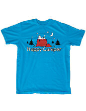 NEW NWT Snoopy Woodstock Happy Camper T-Shirt, Pup Tent Under The Stars 2X