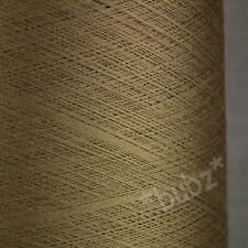 STUNNING SUPER FINE 2/120 PURE SILK COBWEB YARN 250g CONE LACEWEIGHT BRONZE GOLD