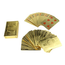 Golden Spielkarten Blattgold Poker Set Hochwertig Wasserdicht Spielkarten