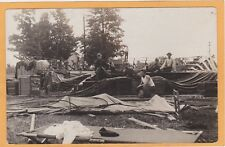 Real Photo Postcard RPPC - Taking Down Shannon Bros Tent Show - Carnival