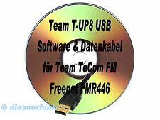 TEAM T-UP8-USB Software CD &  Datenkabel TeCOM-FM PMR Freenet VHF UHF WIN-8