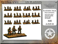 Forged in Battle FOW WW2 15mm US Infantry Platoon