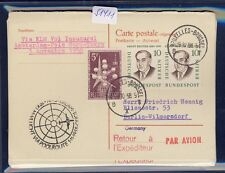 51411) KLM Polar FF Amsterdam - Tokio 1.11.58, Berlin reply card via Brüssel