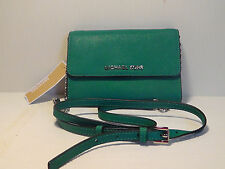 MICHAEL Michael Kors Aqua 'Jet Set - Large Phone' Saffiano Leather Crossbody Bag