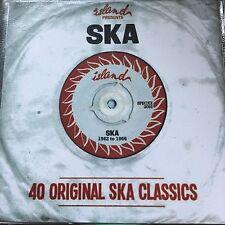 ISLAND RECORDS PRESENTS SKA - 40 ORIGINAL SKA CLASSICS - RARE 2 X CD PROMO