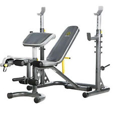 Golds Gym Workout Bench Weight Lifting Press Power Rack Exercise Fitness XRS 20