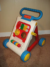 VINTAGE 1990 FISHER PRICE ACTIVITY FOLD & GO BABY TODDLER WALKER #1040