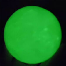 Green Glow In The Dark Natural White Jade Stone Sphere Ball 62MM-