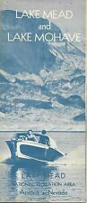 1961 Road Map LAKE MEAD MOHAVE National Recreation Area Arizona Nevada Route 66
