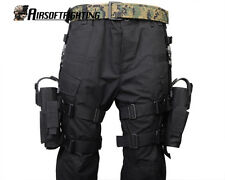Left+Right Hand Adjust Tactical Army Pistol Gun Drop Leg Thigh Holster Pouch Bag