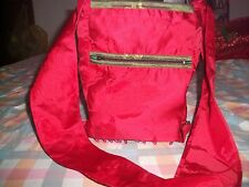 WOMENS LADIES FUNKY FESTIVAL BEACH SHINY RED TRENDY SCHOOL SHOULDER BAG