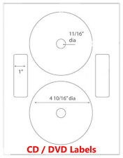 200 Neato Compatible CD/ DVD Laser and Ink Jet Labels- Full Face! 100 Sheets