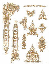 Singer Moderl 27 127 Gingerbread  Style Sewing Machine Restoration Decals