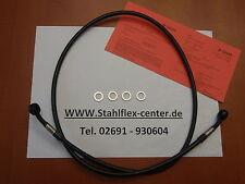 STAHLFLEX 110 cm Einzelleitung Bremsleitung Stahlflex schwarz NEU mitTÜV 1,1m C1
