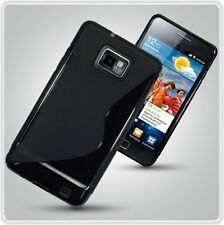 SAMSUNG GALAXY S II BLACK FROSTED TPU SILICON GEL CASE 4 S2 I9100 S LINE COVER 2