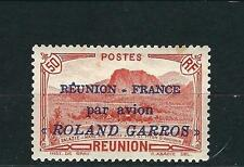 France Reunion Stamps C1 Y&T PA1  50c Red MLH Roland Garros VF 1937 SCV $290.00